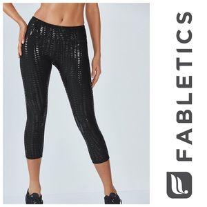 NWT [ Fabletics ] Salar Capril Black Workout Pant